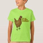 ¿Quién son usted que llama el pollo? ROJO Playera