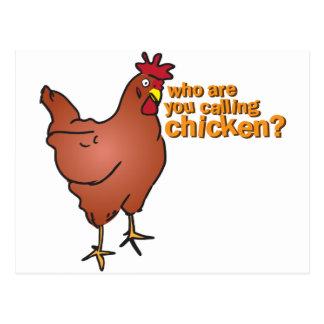 ¿Quién son usted que llama el pollo? ROJO Postal