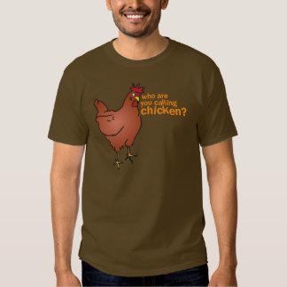 ¿Quién son usted que llama el pollo? ROJO Remeras