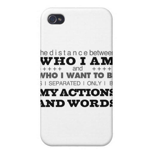Quién soy gris iPhone 4 carcasa
