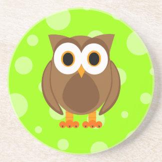 ¿Quién? Sr. Brown Owl Posavasos Para Bebidas