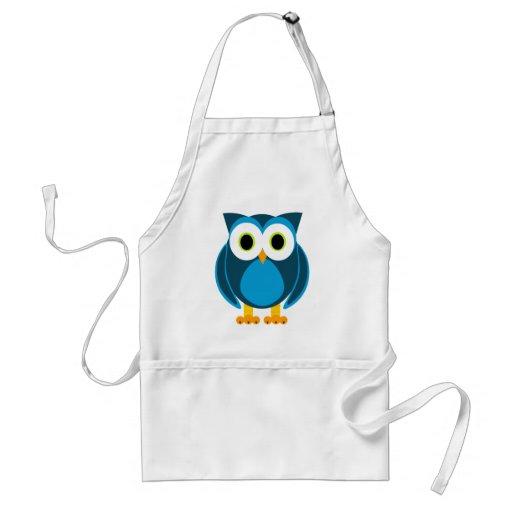 ¿Quién? Sr. Owl Cartoon Delantal
