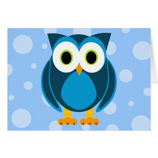 ¿Quién? Sr. Owl Cartoon Felicitación