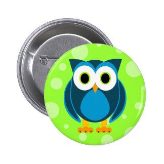 ¿Quién? Sr. Owl Cartoon Pin Redondo 5 Cm