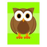 ¿Quién? Sr. Owl Cartoon Postales