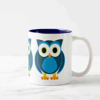 ¿Quién? Sr. Owl Cartoon Taza De Café