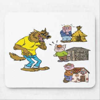 ¿Quién teme el lobo grande del matón? Mousepad Alfombrilla De Ratón