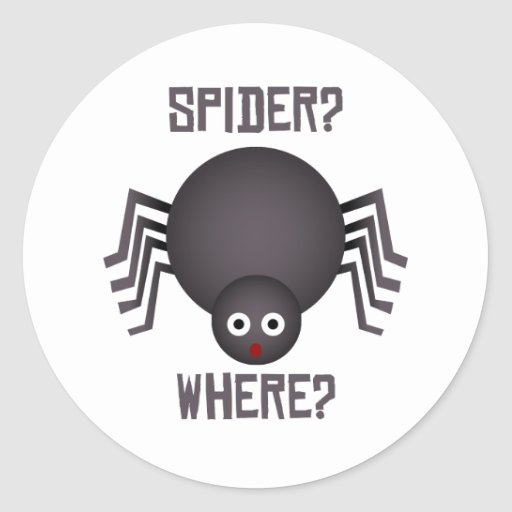 ¿Quién tiene miedo de arañas? Pegatina Redonda
