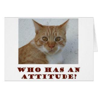 Quién tiene una tarjeta de felicitación del gato d