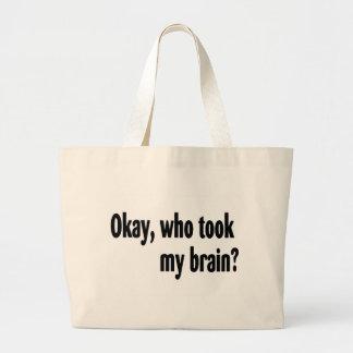 Quién tomó mi cerebro bolsas