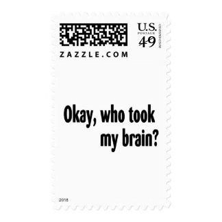 Quién tomó mi cerebro sello