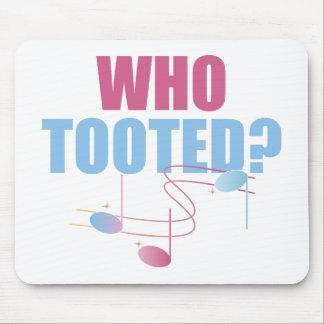 Quién Tooted la música divertida Mousepad Tapetes De Raton