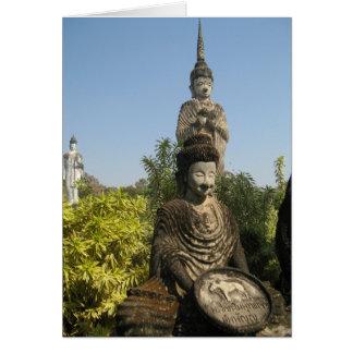 ¿Quién usted adora? Nong Khai, Isaan, Tailandia Tarjeta De Felicitación