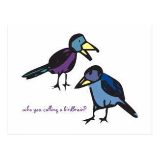¿quién usted callin un birdbrain? Postal