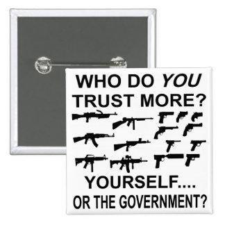 Quién usted confían en más usted mismo o el gobier pin