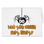 Quién usted diseño de la araña de Callin Itsy Bits Felicitaciones