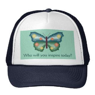 ¿Quién usted inspirará hoy? Gorra de la mariposa