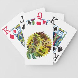 Quién usted me piensan es Playingcards Barajas De Cartas