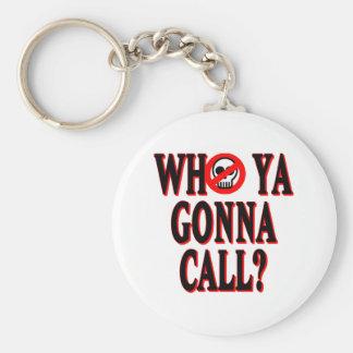 ¿Quién ya que va a llamar? Llavero Redondo Tipo Pin
