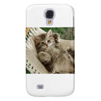 ¿Quién yo? Gatito de la hamaca Funda Para Galaxy S4