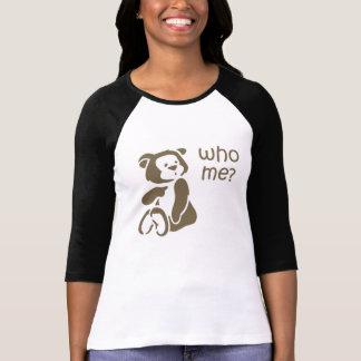 Quién yo la camisa de las mujeres del oso de peluc