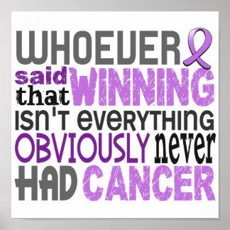 Quienquiera dijo a general Cancer Posters