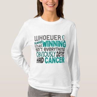 Quienquiera dijo al cáncer de cuello del útero playera