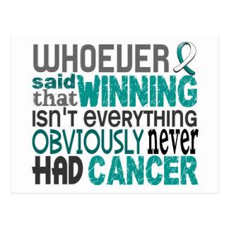 Quienquiera dijo al cáncer de cuello del útero postales