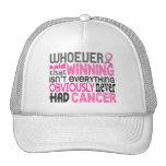 Quienquiera dijo al cáncer de pecho gorro de camionero