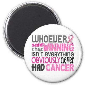 Quienquiera dijo al cáncer de pecho iman de frigorífico