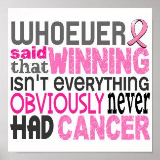 Quienquiera dijo al cáncer de pecho póster