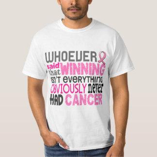 Quienquiera dijo al cáncer de pecho remera
