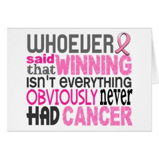 Quienquiera dijo al cáncer de pecho felicitacion