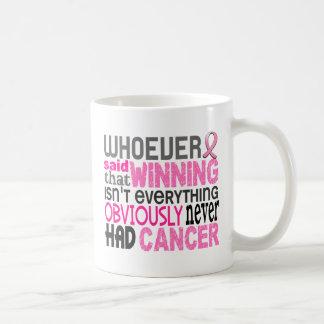 Quienquiera dijo al cáncer de pecho tazas