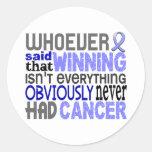 Quienquiera dijo al cáncer de próstata pegatina redonda