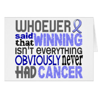 Quienquiera dijo al cáncer de próstata tarjeta de felicitación