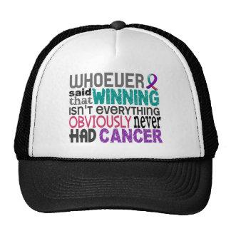 Quienquiera dijo al cáncer de tiroides gorros bordados