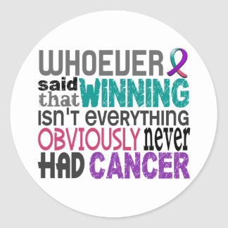 Quienquiera dijo al cáncer de tiroides pegatina redonda