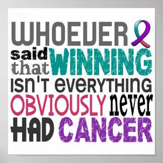 Quienquiera dijo al cáncer de tiroides póster