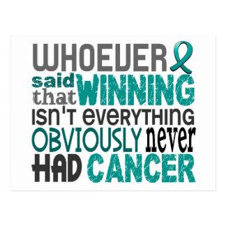 Quienquiera dijo al cáncer ovárico postales