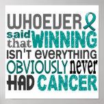 Quienquiera dijo al cáncer ovárico poster