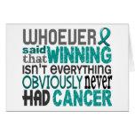 Quienquiera dijo al cáncer ovárico tarjeton