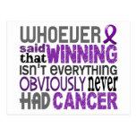 Quienquiera dijo al cáncer pancreático tarjeta postal