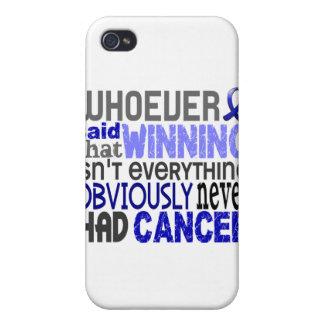 Quienquiera dijo al cáncer rectal iPhone 4 protectores