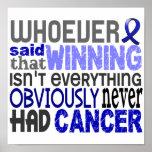 Quienquiera dijo al cáncer rectal impresiones
