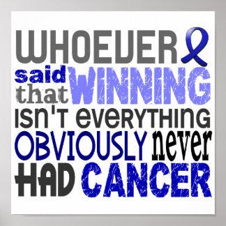 Quienquiera dijo al cáncer rectal póster