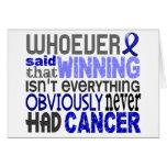 Quienquiera dijo al cáncer rectal tarjetas