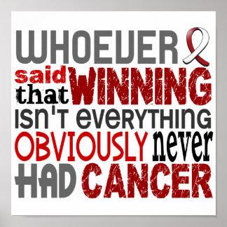 Quienquiera dijo el cáncer de cabeza y cuello póster