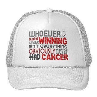 Quienquiera dijo el cáncer de pulmón gorros
