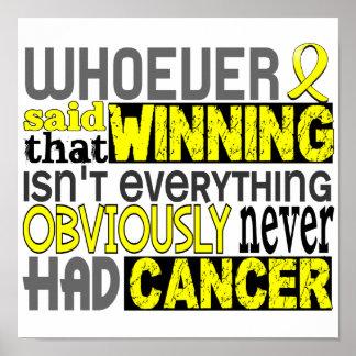 Quienquiera dijo el sarcoma póster